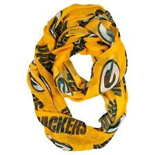 NEW GREEN BAY PACKERS SOFT SHEER INFINITY FASHION SCARF LICENSED ALT
