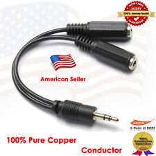 3.5mm Stereo Audio Headphone Y Splitter Cable for iPhone iTouch SmartPhones