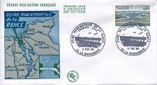 FRANCE FDC - 591 1507 1 BARRAGE DE LA RANCE - LA RICHARDAIS 3 Décembre 1966