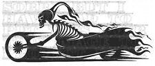 Skeleton BIKE HARLEY decal sticker vinyl CHOPPER TRIKE CUSTOM SUZUKI GHOST RIDER