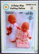 Poupées tricot motif 16 To 18 in (environ 45.72 cm) Baby Born type poupée Nº 215 par DAISY-Mai