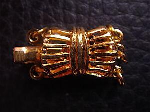 Lot Of 5 Fine Clasps Filigree 3 Ranks Necklace & Bracelet Vintage New / Clasp