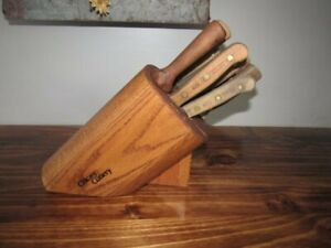 Vintage Chicago Cutlery Block Knife Set 7-Knives and Sharpening Steel