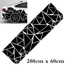 1pcs Geometric Triangle Graphics Decal Glossy Black Universal For Car Body Side