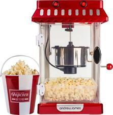 Andrew James Retro Electric Kettle Popcorn Maker / Popcorn Machine & 4 Buckets