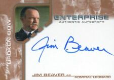Star Trek Enterprise Season One 1 Autograph Card Jim Beaver Admiral Leonard Bba6