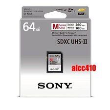 Sony 64GB SD SDXC Memory Card Read 260MB/s Class 10 U3 4K UHS-II SF-M64 AU