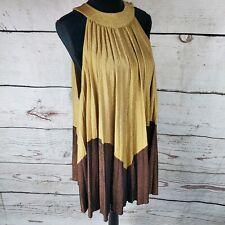 Stretch suedette-Brown-Vestido fabric-free envío sólo Reino Unido