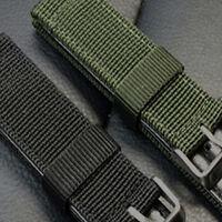 PT_ LC_ 18/20mm Nylon Polso Orologio con Cinturino per Acciaio Inox Fibbia Fad