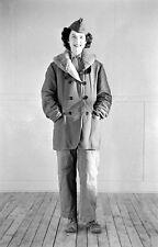 WW2 Photo WWII  Female US Marine Cold Weather Gear   MCWR 1944  USMC / 1480