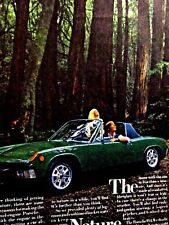 "1973 Porsche 914 The Nature Porsche Original Print Ad 8.5 x 11"""