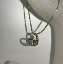Vtg Irish Celtic Claddagh Love Charm Pendant Anklet Hands Heart Silver Bracelet