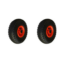 Lot deux roues gonflable diable 260x85mm (3.00-4) à rouleaux alésage 20mm cha...