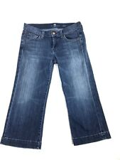 7 Seven For All Mankind 'Dojo' Capris Cropped Jeans Women's Size 27 Distressed