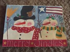 "3 Christmas cards, Merry Jingles, by Birds 'n Berries 7""x5"""