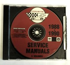 1988 90 CORVETTE CD SHOP SERVICE REPAIR MANUAL ENGINE DRIVE TRAIN MECHANICAL & M