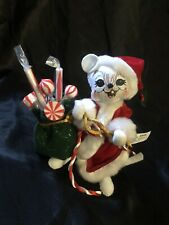 Annalee 2005 Christmas Santa Mouse W/Candy Sack /Christmas Decor/Holiday/Winter