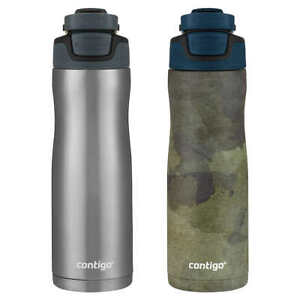 Contigo, 2 Pk Autoseal Couture 20oz Vacuum Insulated Water Bottle (Choose Color)