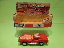 DINKY TOYS 206 CHEVROLET CORVETTE STINGRAY CUSTOMISED - RED 1:43? - GOOD IN BOX