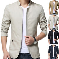 Outwear New Jacket Casual Suit Formal Warm Men's Fit Tops Mens Slim Collar Coat