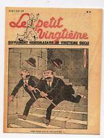 Carte Tintin. Petit Vingtième n°22 du 2 JUIN 1938. Les Dupondt...