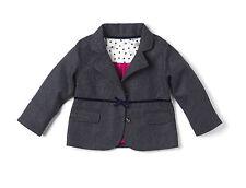Age 5-6 Girls Blue Tweed Jacket - British Designer Brand Hey Joe