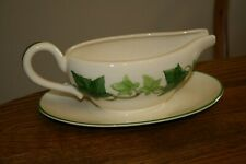Franciscan Ivy Gravy Boat with Attached Underplate California Pottery USA Made