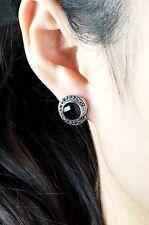 Silver Stud Earrings Goldstone Beautiful Ladies Solid 925 Sterling