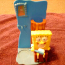 """Spongbob Toothbrush and Toothpaste Holder 2009 6 1/4"""" tall"""