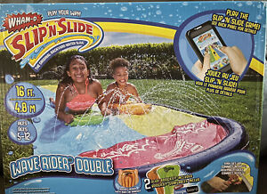 Wham-O Slip N Slide Wave Rider 16 Foot Double with 2 Slide Boogies - Ships TODAY