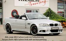 Rieger Seitenschweller mit Schacht und Ausschnitt für BMW 3er E46 alle Modelle