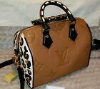 Louis Vuitton Wild At Heart Speedy 25 Caramel Jungle Giant Monogram Leather Bag