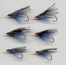 Sea Trout Flies: Blue of the Night x 3 sizes 1,2 & 4 x 2 of each (code 273)
