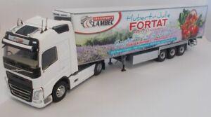 ELI116957 - Camion 4x2 VOLVO FH4 avec semi 3 essieux réfrigérante Chereau aux co