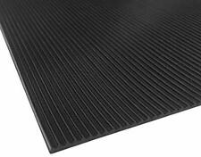 Ribbed/Corrigated Rubber Matting Black Roll 1/8