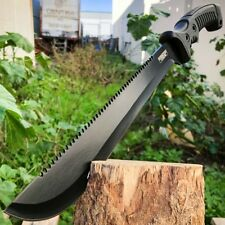 "15.5"" Hunting Survival Fixed Blade Machete Tactical Knife Rambo Bowie Camping"