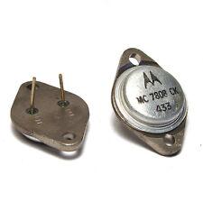 2x Motorola MC 7808 CK Spannungsregler, 8V / 1.5A, TO-3 Gehäuse, NOS