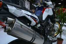 Honda Africa Twin CRF1000L 2015-2017 Silmotor Slipon Exhaust System Oval Road