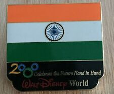 Millennium Village WDW Flag Pin India Pavilion 2000 Disney Pin