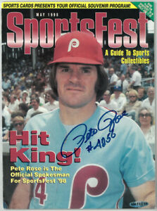 Pete Rose signed 1998 Sportsfest Magazine #4256- Upper Deck Authenticated