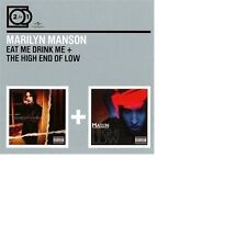 MARILYN MANSON - 2 FOR 1: EAT ME DRINK ME/THE HIGH END OF LOW 2 CD NEUF