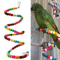 Parrot Pet Ladder Swing Hanging Chew Bite Toy For Budgie Bird Swing Cockatiel