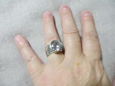 Retired Silpada R1790 Sterling Large CZ Stacking Bands Five Stack Rings sz 7.25