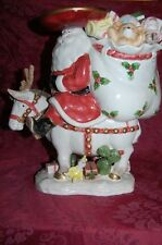 Fitz & Floyd Southwest Santa Centerpiece Cookie Jar Vintage Beautiful Large 1989