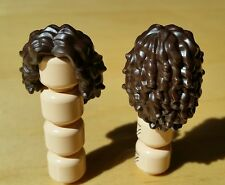 Lego NEW Minifigure Female DARK BROWN Long Wavy Hair Wig Gorgeous
