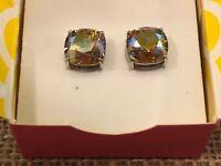 Origami Owl Clara Stud Earrings w/ Lt Colorado Topaz Shimmer Crystals - ER3039
