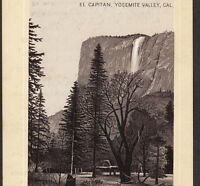 El Capitan 1890's Yosemite National Park photo poem old Jersey Coffee Trade Card