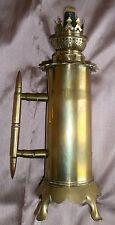 Lampe à pétrole en laiton oeuvre de tranchée d'un poilu - Guerre 14-18