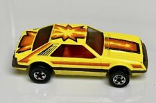 Hot Wheels Vintage Blackwall Yellow Turbo Mustang Excellent Car
