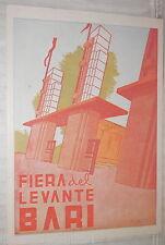 vecchia cartolina FIERA DEL LEVANTE BARI ILLUSTRATO DA LUSCO INGRESSO DI Puglia